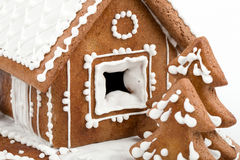 Holiday Gingerbread house isolated on white. Stock Photography
