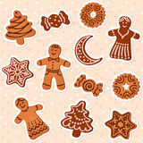Holiday gingerbread set Stock Image
