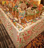Holiday Gingerbread Village Royalty Free Stock Photography