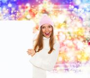 Holiday girl board Stock Images