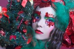 Holiday girl. Stock Photos