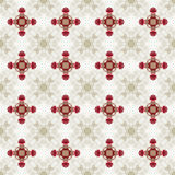 Holiday Glitzy Champagne Red Ribbon Seamless Background Pattern Royalty Free Stock Photos