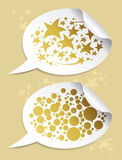 Holiday gold stickers Royalty Free Stock Photography