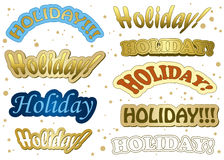 Holiday - gold stickers - vector Stock Photography