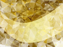 Holiday golden frame. With triangles, stars  and translucent gold line (vector EPS 10 Royalty Free Stock Photo
