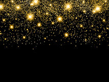 Holiday Golden Star Night Background Stock Image