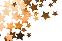 Holiday golden stars isolated Royalty Free Stock Photography