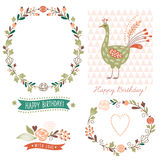Holiday graphic elements, vector collection Stock Images