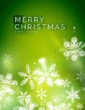 Holiday green abstract background, winter Royalty Free Stock Image