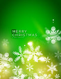 Holiday green abstract background, winter Royalty Free Stock Photo