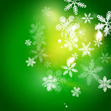 Holiday green abstract background, winter Royalty Free Stock Images