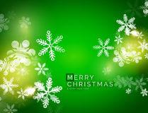 Holiday green abstract background, winter Stock Photo