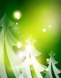 Holiday green abstract background, winter Stock Image
