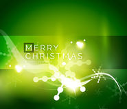 Holiday green abstract background, winter. Snowflakes, Christmas and New Year design template, light shiny modern vector illustration royalty free illustration