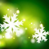 Holiday green abstract background, winter Royalty Free Stock Photography
