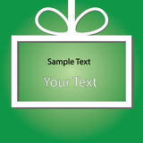 Holiday green background application. Raster Royalty Free Stock Photo