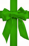 Holiday green bow and ribbon royalty free stock images
