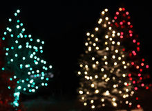 Holiday Green Red Light Christmas Tree Abstract royalty free stock image
