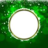 Holiday Green Xmas Greeting Card Royalty Free Stock Photo