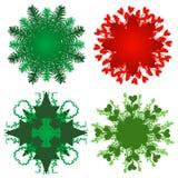 Holiday greenery patterns Stock Photo