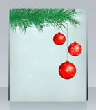 Holiday Greeting Card with Christmas balls. Can be Royalty Free Stock Photos