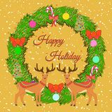 Holiday Greeting card. Stock Photography