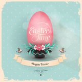 Holiday greeting card with easter egg Royalty Free Stock Photos
