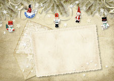 Holiday greeting card with envelope Royalty Free Stock Image