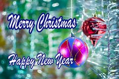 Holiday greeting card royalty free illustration