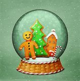 Snowglobe Christmas royalty free stock image