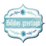 Holiday Greeting Card Stock Photography
