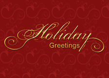 Holiday Greeting Graphic Stock Images