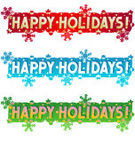 Holiday greeting - Happy Holidays! Stock Images