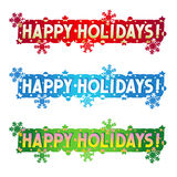 Holiday greeting - Happy Holidays! Stock Image