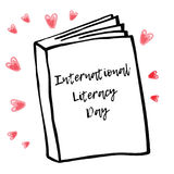 Holiday greetings illustration International Literacy Day. Vector illustration for you. Modern fashion trend design Royalty Free Stock Image