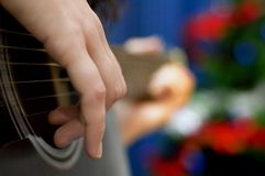 Holiday Guitar Royalty Free Stock Image