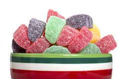 Holiday gumdrop candies Royalty Free Stock Photo