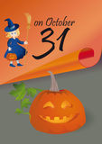 Holiday of Halloween Royalty Free Stock Photography