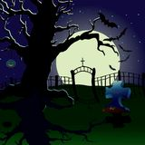 A holiday is Halloween. Cemetery Royalty Free Stock Photos