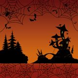 Holiday Halloween landscape stock illustration