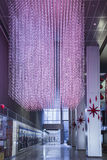 Holiday Hallway. Toronto's Telus Building, decorated for the holidays Stock Photo