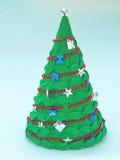 Holiday handicraft. Handmade paper Christmas tree. Holiday handicraft Stock Images