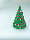 Holiday handicraft. Handmade paper Christmas tree. Holiday handicraft. Copy space for your text Stock Photo