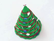 Holiday handicraft. Handmade paper Christmas tree. Holiday handicraft. Top view. Selective foxus Stock Photo