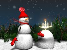 Holiday hanuka and Christmass  Stock Images