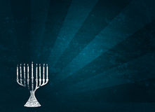 Holiday: Hanukkah Grunge Background Stock Image