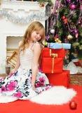 Holiday Happy Christmas. Happy girl . Stock Image