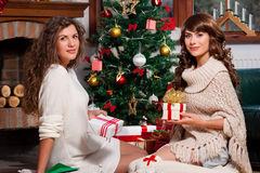 Holiday happy girls Royalty Free Stock Photography