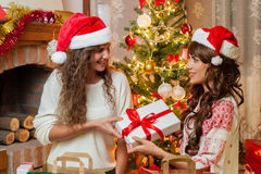 Holiday happy girls Stock Photography