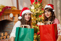 Holiday happy girls Royalty Free Stock Image
